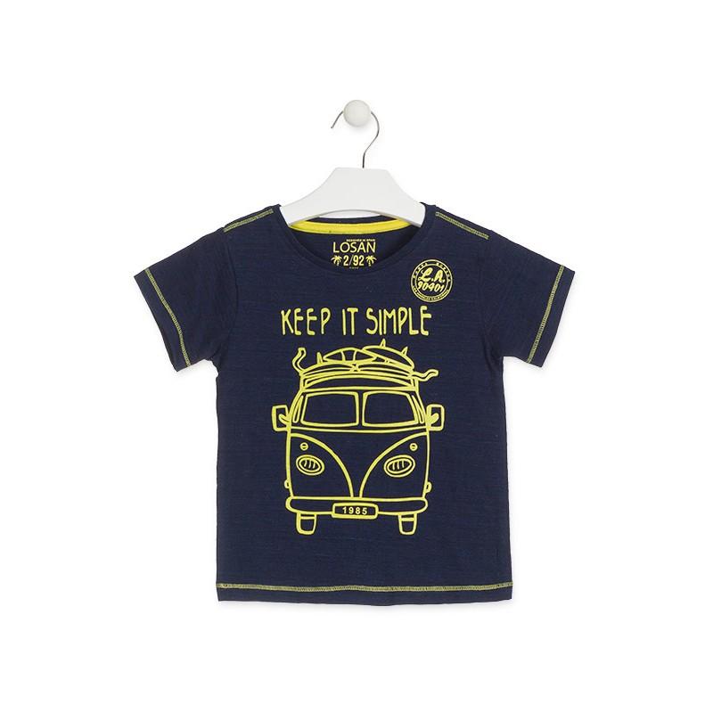 1db0524e1a8 KaterinasKids | Παιδικό | Αγόρι | Μπλούζες | Losan παιδική μπλούζα  αυτοκίνητο αγόρι μπλέ